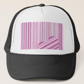 Pink pattern love trucker hat