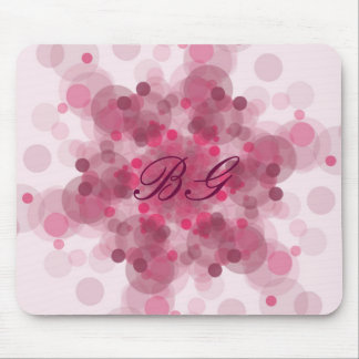 Pink pattern monogram mouse mat customize-able