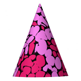 pink pattern party hat