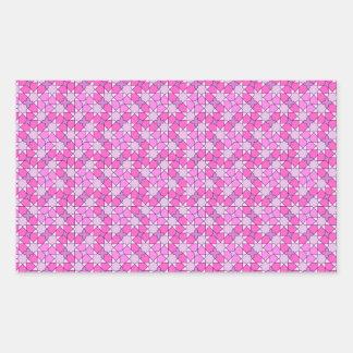 pink pattern rectangle sticker