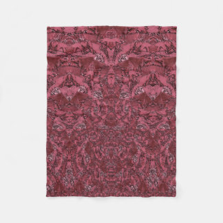 Pink Pattern Texture in Coral Teracotta Color Fleece Blanket