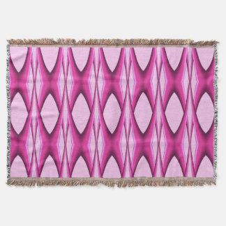 Pink Pattern Throw Blanket