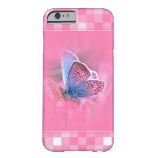 Pink Pattern with a ver beautiful Butterfly Barely There iPhone 6 Case