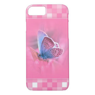 Pink Pattern with a ver beautiful Butterfly iPhone 7 Case