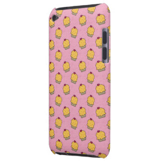 Pink pattern with cute cupcakes and hearts iPod Case-Mate cases