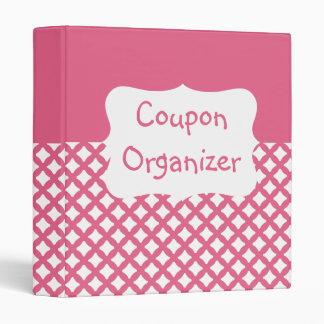 Pink Patterned Coupon Organizer 3 Ring Binders