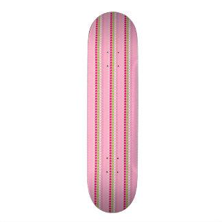 Pink patterned skateboard