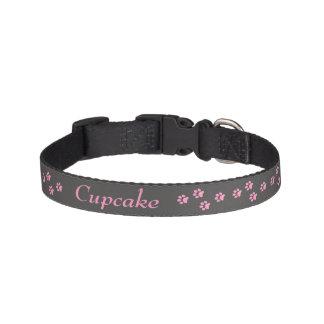 Pink Paw print Dog Collar