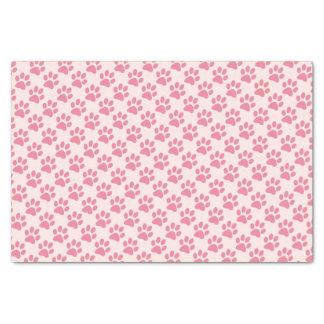 Pink Paw Prints Tissue Paper