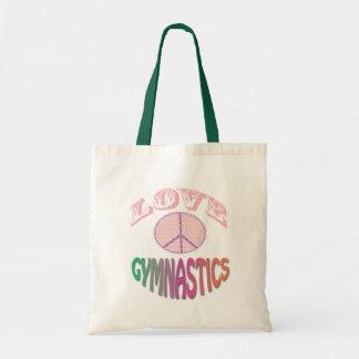 Pink Peace Love Gymnastics Bag