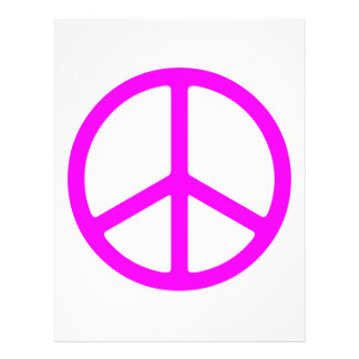 Pink Peace Sign Flyer Template
