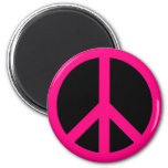 Pink Peace Sign Magnet