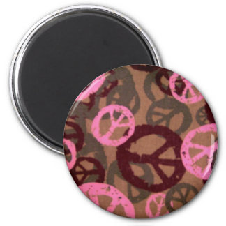 Pink Peace Signs magnet