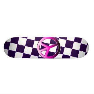 Pink Peace Skate Board Decks