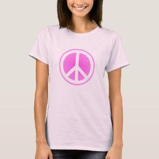 Pink Peace Symbol T-Shirt