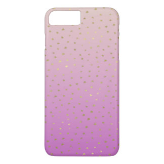 Pink Peach Gold Ombre Confetti Dots iPhone 8 Plus/7 Plus Case