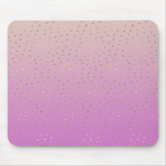 Pink Peach Gold Ombre Confetti Dots Mouse Pad