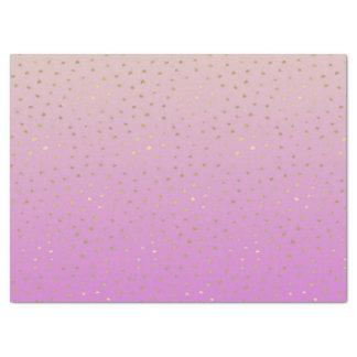 Pink Peach Gold Ombre Confetti Dots Tissue Paper