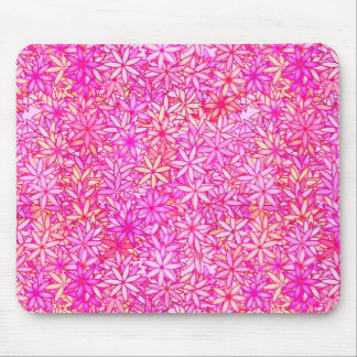 pink, peach, orchid and coral flowers mouse pad