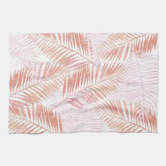 Pink & Peach Palm Leaves Towel