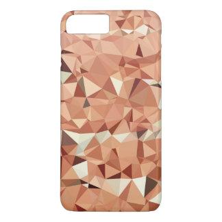 Pink Peach Triangles Geometric Pattern iPhone 7 Plus Case