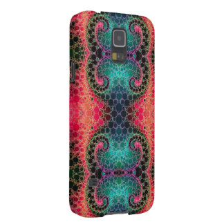 Pink Peach Turquoise Fractal Abstract Cases For Galaxy S5