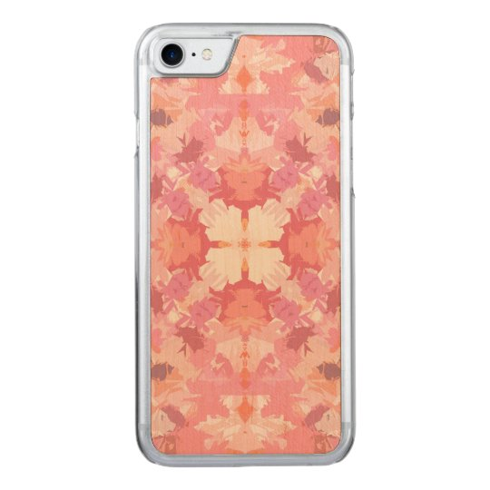 Pink Peach Watercolor Abstract Pattern Carved iPhone 7 Case