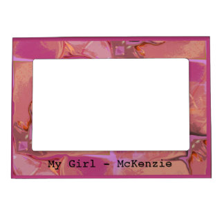 Pink Peachy Personalized Magnetic Frame