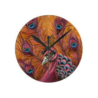Pink Peacock Clocks