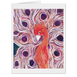 Pink Peacock Designer Greeting Cards