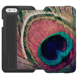 Pink Peacock Feather Chic Incipio Watson™ iPhone 6 Wallet Case