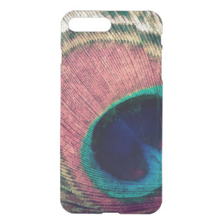 Pink Peacock Feather Chic iPhone 8 Plus/7 Plus Case