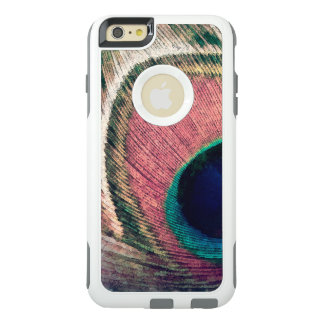 Pink Peacock Feather Chic OtterBox iPhone 6/6s Plus Case
