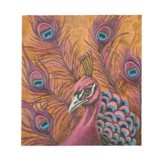 Pink Peacock Notepad