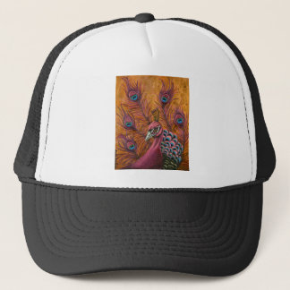 Pink Peacock Trucker Hat
