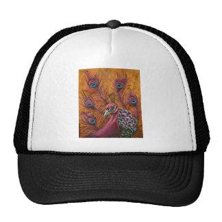 Pink Peacock Trucker Hat