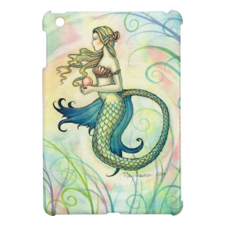 Pink Pearl Colorful Mermaid Art by Molly Harrison iPad Mini Covers
