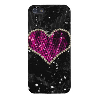 Pink Pearl Heart iPhone 5/5S Cover