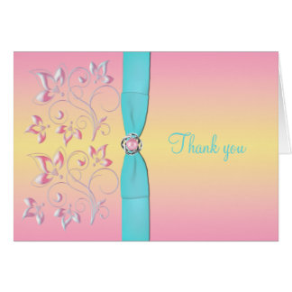 Pink Pearl & Pretty Pastels Thank You Card