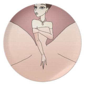 Pink Pearl Princess Plate
