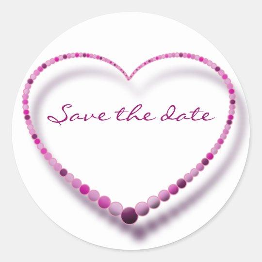 pink pearls classic round sticker