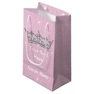 Pink Pearly Personalized Princess Gift Bags