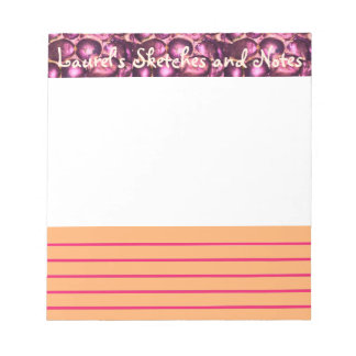 Pink Pebbled Glam small sketch and note pad