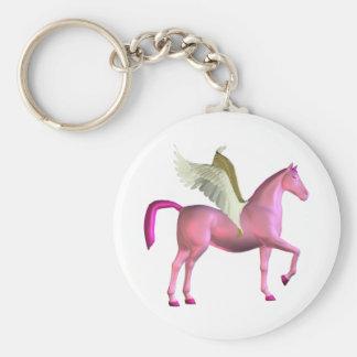 Pink Pegasus Keychain