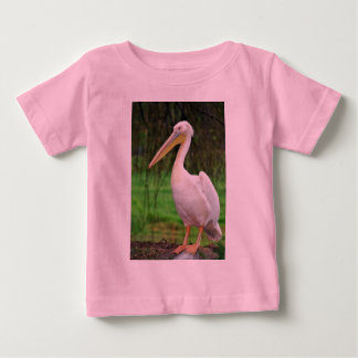 Pink Pelican bird with long beak Baby T-Shirt