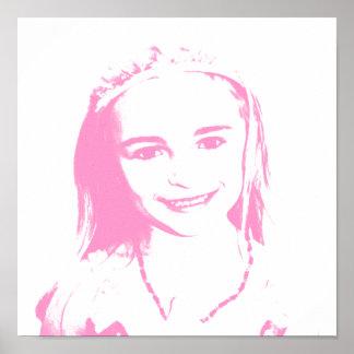 Pink Pen & Ink Princess Poster