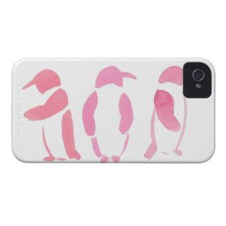 Pink Penguin Trio iPhone 4 Case