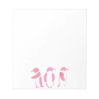 Pink Penguin Trio Notepad