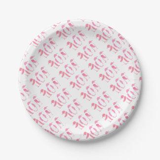 Pink Penguin Trio Paper Plate