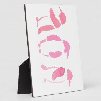 Pink Penguin Trio Plaque